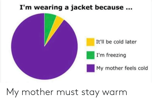 warm: My mother must stay warm