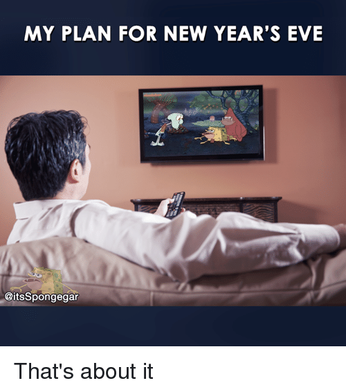 Spongegar: MY PLAN FOR NEW YEAR'S EVE  @its Spongegar That's about it