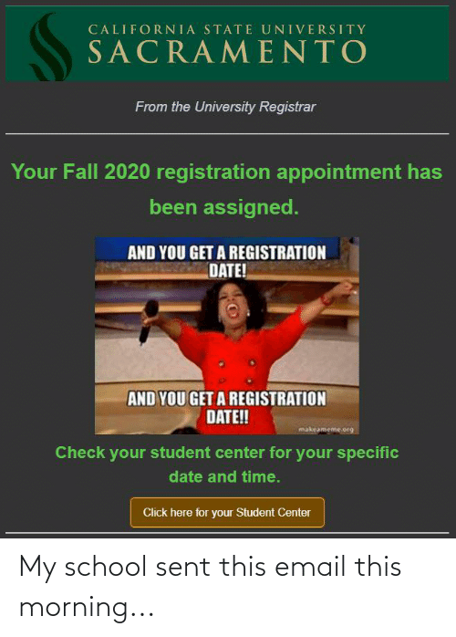 this morning: My school sent this email this morning...