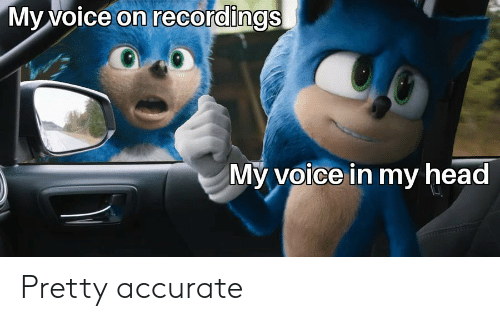 Voice: My voice on recordings  My voice in my head Pretty accurate