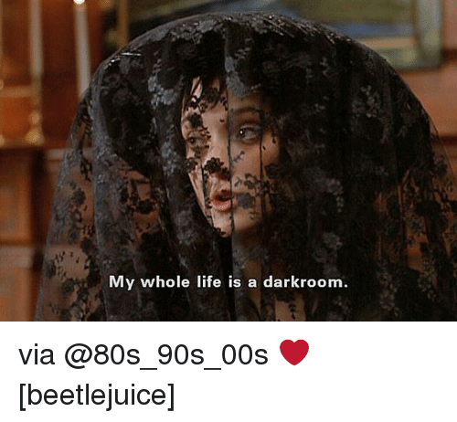 Beetlejuice: My whole life is a darkroom. via @80s_90s_00s ❤️ [beetlejuice]