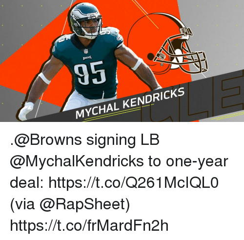 Memes, Browns, and 🤖: MYCHAL KENDRICKS .@Browns signing LB @MychalKendricks to one-year deal: https://t.co/Q261McIQL0 (via @RapSheet) https://t.co/frMardFn2h