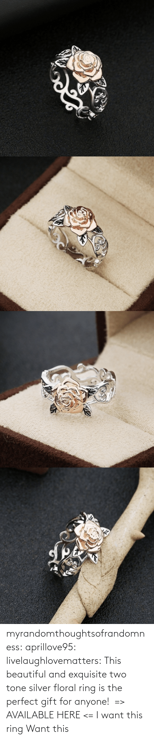 perfect: myrandomthoughtsofrandomness:  aprillove95: livelaughlovematters:  This beautiful and exquisite two tone silver floral ring is the perfect gift for anyone!  => AVAILABLE HERE <=    I want this ring     Want this