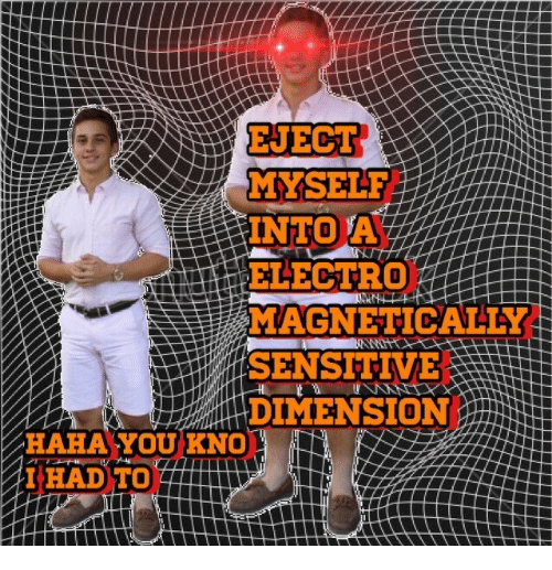 electro: MYSEL  INTO A  ELECTRO  MAGNETICALTY  SENSITVE  3  DIMENSION  HAHA'YOUKNO  IHAD TO