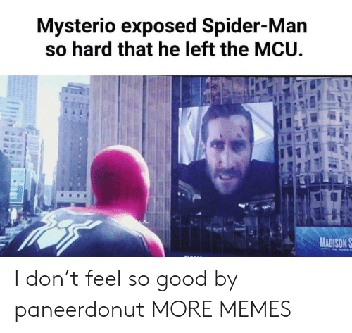 Dank, Memes, and Spider: Mysterio exposed Spider-Man  so hard that he left the MCU  MADISON S I don't feel so good by paneerdonut MORE MEMES