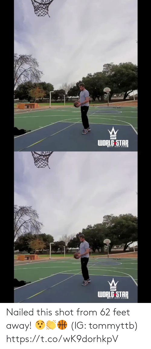 feet: Nailed this shot from 62 feet away! 😯👏🏀 (IG: tommyttb) https://t.co/wK9dorhkpV