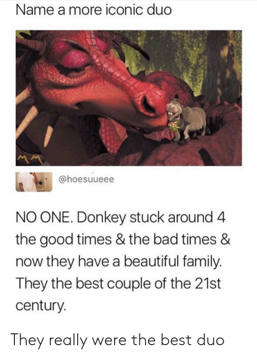 Bad, Beautiful, and Donkey: Name a more iconic duc  @hoesuueee  NO ONE. Donkey stuck around 4  the good times & the bad times &  now they have a beautiful family  They the best couple of the 21st  century They really were the best duo
