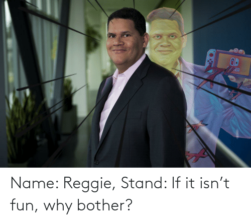 If It: Name: Reggie, Stand: If it isn't fun, why bother?