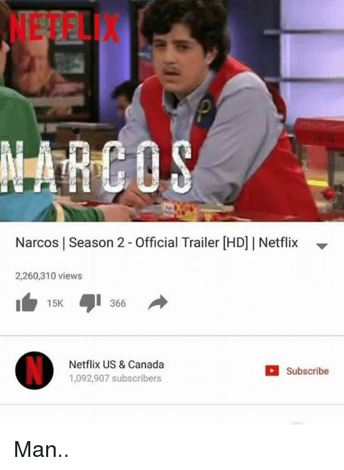 narco: Narcos l Season 2-Official Trailer HDJI Netflix  2,260,310 views  15K  366  Netflix US & Canada  Subscribe  1,092,907 subscribers Man..