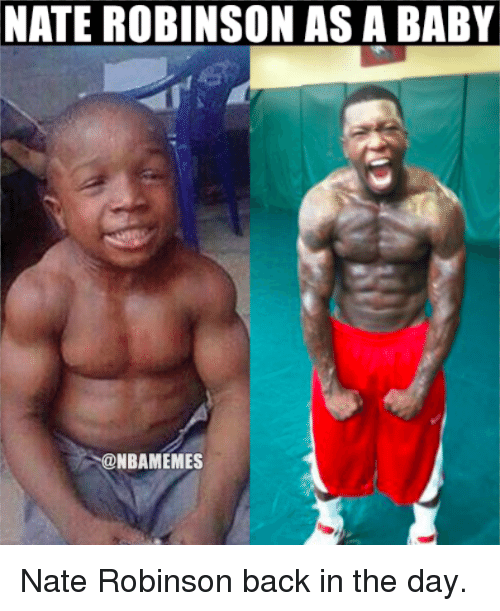 Nate Robinson: NATE ROBINSON ASA BABY  SONBAMEMES Nate Robinson back in the day.