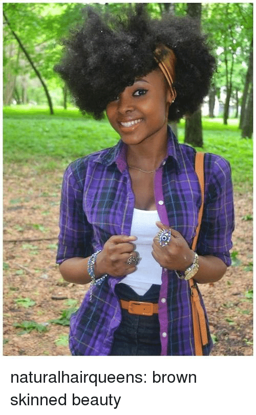 Tumblr, Blog, and Http: naturalhairqueens:  brown skinned beauty