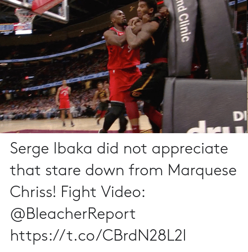 Clinic: nd Clinic Serge Ibaka did not appreciate that stare down from Marquese Chriss!   Fight Video: @BleacherReport https://t.co/CBrdN28L2l