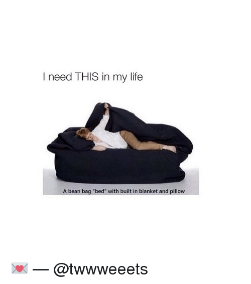 """Bean Bagged: need THIS in my life  A bean bag """"bed"""" with built in blanket and pillow 💌 — @twwweeets"""