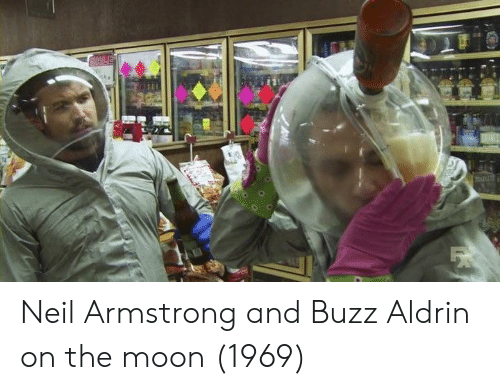 Neil Armstrong, Buzz Aldrin, and Moon: Neil Armstrong and Buzz Aldrin on the moon (1969)