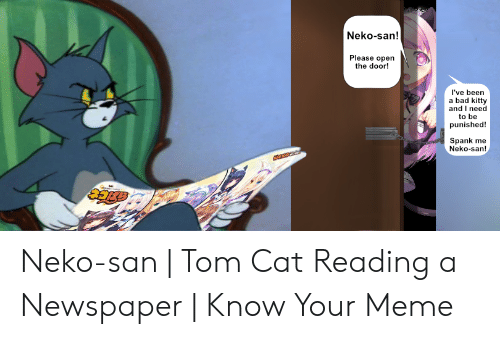 25 Best Memes About Tom Cat Reading A Newspaper Tom