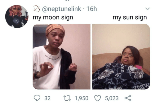 Moon, Sun, and Moon Sign: @neptunelink 16h  my moon sign  my sun sign  t1,950  32  5,023  MB