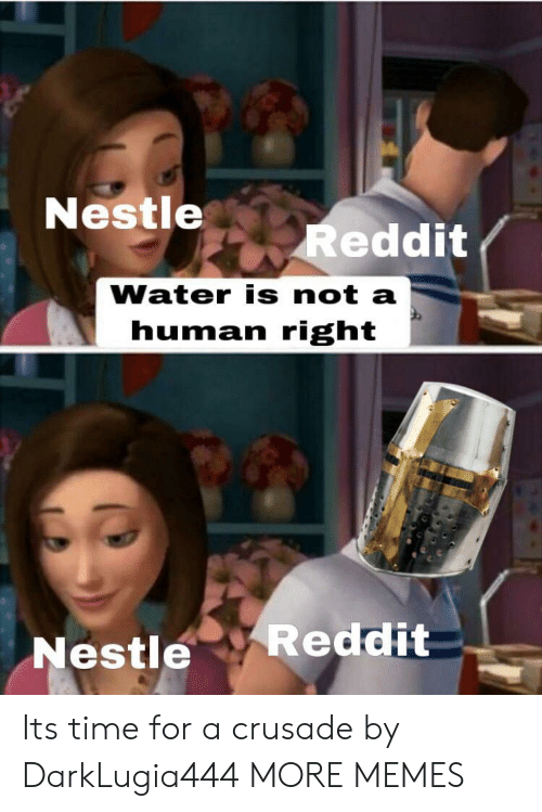 Dank, Memes, and Reddit: Nestle  Reddit  Water is not a  human right  Reddit  Nestle Its time for a crusade by DarkLugia444 MORE MEMES