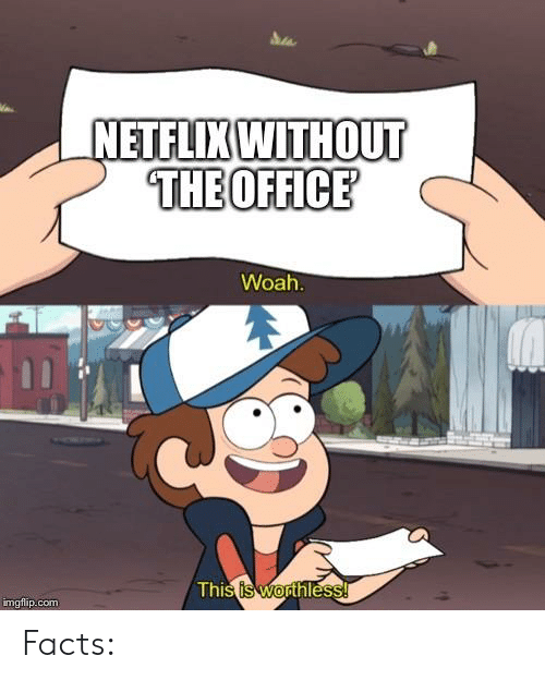 Facts, The Office, and Com: NETFLIXWITHOUT  THEOFFICE  Woah  imgflip.com Facts: