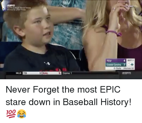 Most Epic: Never Forget the most EPIC stare down in Baseball History! 💯😂