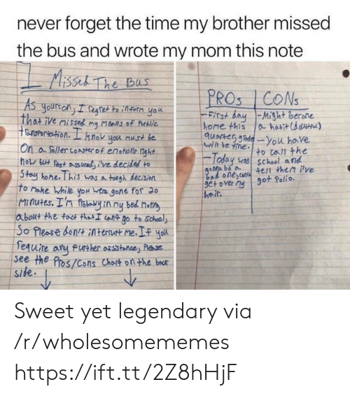 Bad, School, and Home: never forget the time my brother missed  the bus and wrote my mom this note  Aissel The bus  PROS CONS  As  yours ony I regtette infern yok  That ive misses my Mlans of Publie  ertation. I  FICt dayMight becone  home this  quocter de-You have  ahabitCd d)  snok you nust be  Wihl le ne  On a foller coAserof enstione nght  hols but est udve decidesd to  Stoy hone. This wasa tolgh decision  To Make While you ta gone fof 20  Minutes. I'n foteyin ny bed not  about the foct thatI iot Do to School  So Pleose bontAtent me  fequire  see the Pros/Cons Chost onthe bocr  Side  to tall the  Today v school and  4et then Pve  got Polio.  Bad onescan  9e+ over My  heir  FUrther assistance Plse Sweet yet legendary via /r/wholesomememes https://ift.tt/2Z8hHjF