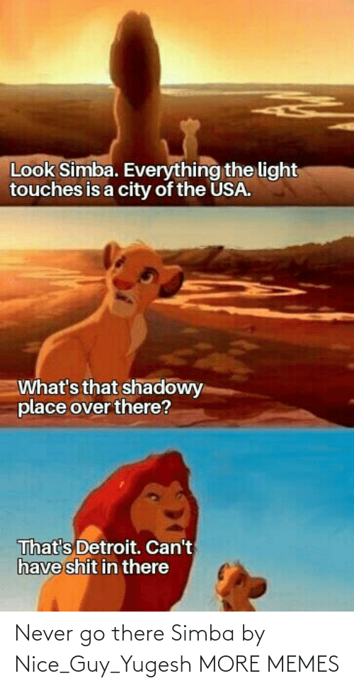 guy: Never go there Simba by Nice_Guy_Yugesh MORE MEMES