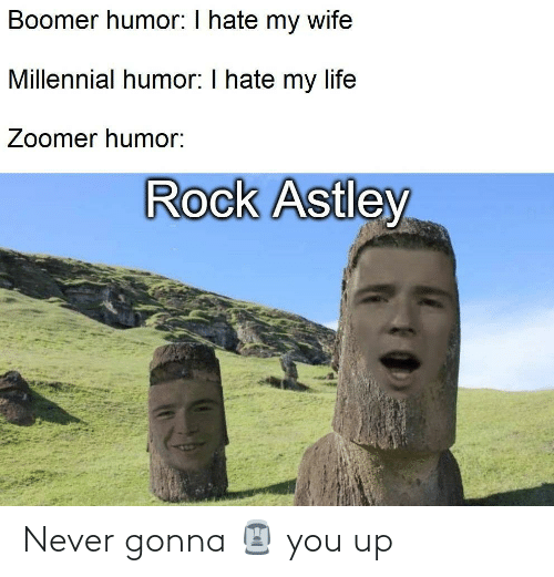 gonna: Never gonna 🗿 you up