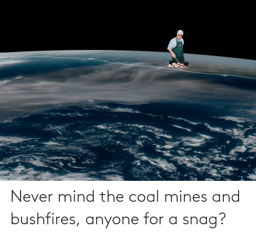 Mind: Never mind the coal mines and bushfires, anyone for a snag?