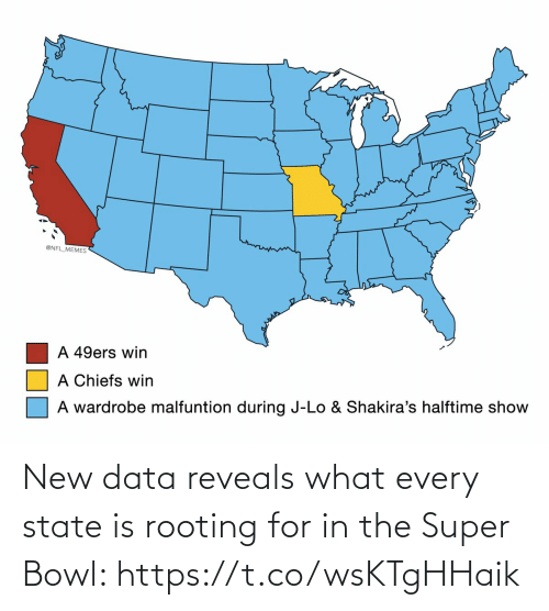 The Super Bowl: New data reveals what every state is rooting for in the Super Bowl: https://t.co/wsKTgHHaik
