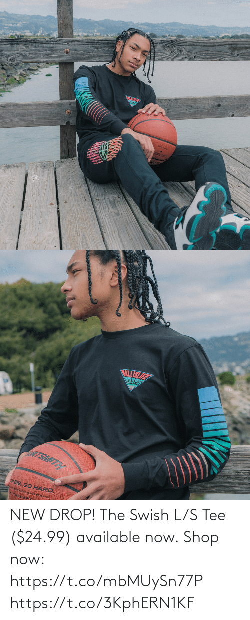 L: NEW DROP! The Swish L/S Tee ($24.99) available now.  Shop now: https://t.co/mbMUySn77P https://t.co/3KphERN1KF