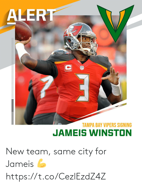team: New team, same city for Jameis 💪 https://t.co/CezlEzdZ4Z