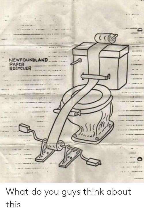 newfoundland: NEWFOUNDLAND  PAPER  RECYCLER What do you guys think about this
