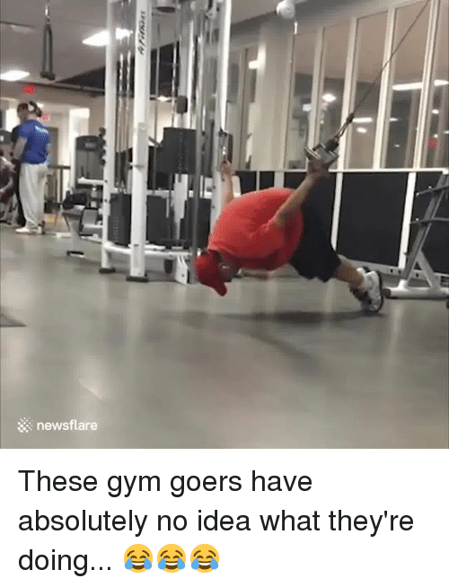 Gym, Idea, and What: newsflare These gym goers have absolutely no idea what they're doing... 😂😂😂