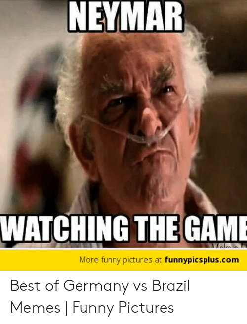 Vs Brazil: NEYMAR  WATCHING THE GAME  More funny pictures at funnypicsplus.com Best of Germany vs Brazil Memes   Funny Pictures