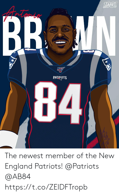 new england: NFL  BR MN  84  D  PATRIOTS The newest member of the New England Patriots!  @Patriots   @AB84 https://t.co/ZElDFTropb