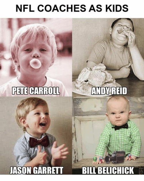 Andy Reid, Nfl, and Pete Carroll: NFL COACHES AS KIDS  PETE CARROLL  ANDY  REID  JASON GARRETTBILL BELICHICK