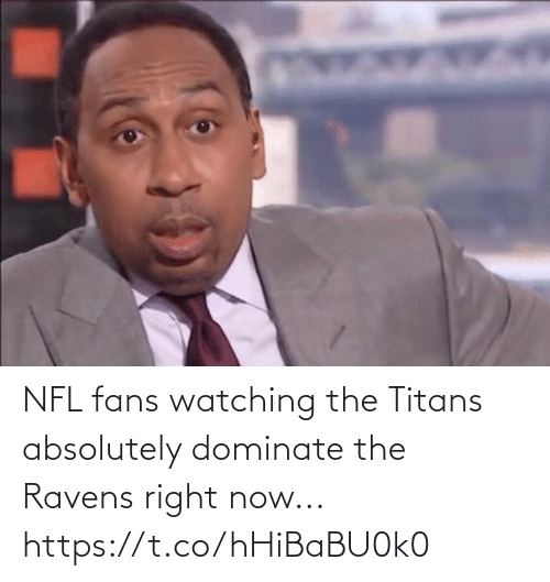 fans: NFL fans watching the Titans absolutely dominate the Ravens right now... https://t.co/hHiBaBU0k0