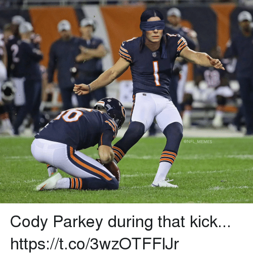 Football, Memes, and Nfl: @NFL MEMES Cody Parkey during that kick... https://t.co/3wzOTFFlJr