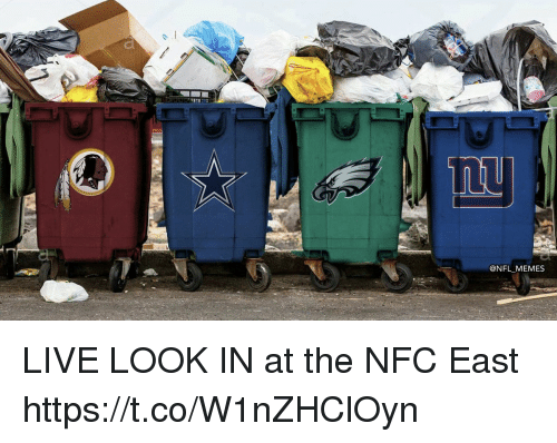 Football, Memes, and Nfl: @NFL_ MEMES LIVE LOOK IN at the NFC East https://t.co/W1nZHClOyn