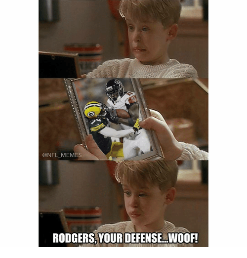 Rodgering: @NFL MEMES  RODGERS, YOUR DEFENSE WOOF!
