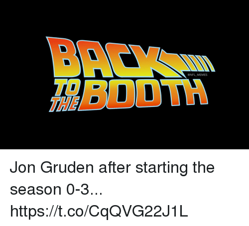 Gruden: @NFL MEMES  THE Jon Gruden after starting the season 0-3... https://t.co/CqQVG22J1L