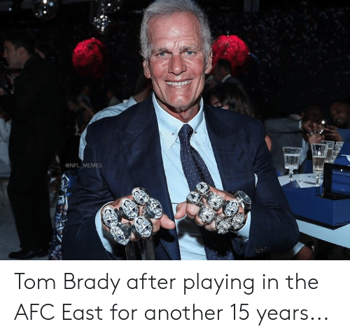 Memes, Nfl, and Tom Brady: NFL MEMES Tom Brady after playing in the AFC East for another 15 years...