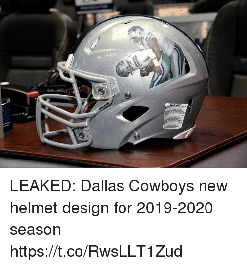 Dallas Cowboys: @NFL MEMES  WARNING LEAKED: Dallas Cowboys new helmet design for 2019-2020 season https://t.co/RwsLLT1Zud