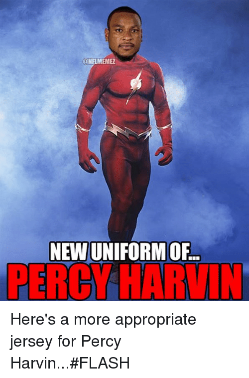 Nfl, Flash, and Percy Harvin: @NFLMEMEZ  NEWN ORM OF  PERCY HARVIN Here's a more appropriate jersey for Percy Harvin...#FLASH