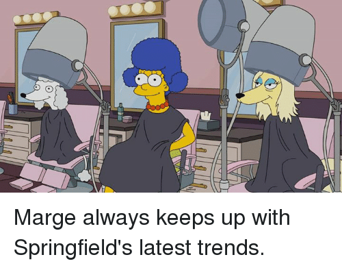 Dank, 🤖, and Latest: NIA Marge always keeps up with Springfield's latest trends.