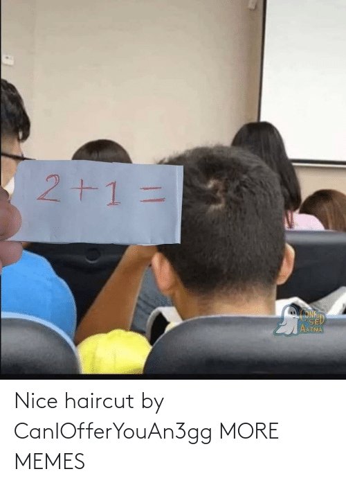 Haircut: Nice haircut by CanIOfferYouAn3gg MORE MEMES