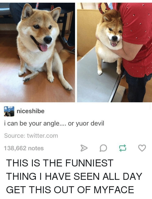 i can be your angle or yuor devil dog