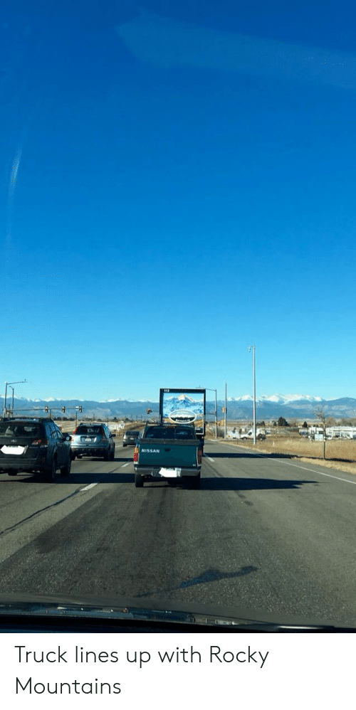 Rocky, Nissan, and Rocky Mountains: NISSAN Truck lines up with Rocky Mountains