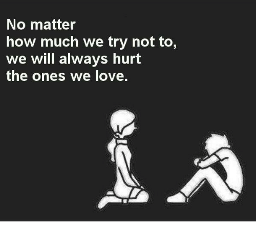 No Matter How Much We Try Not To We Will Always Hurt The Ones We