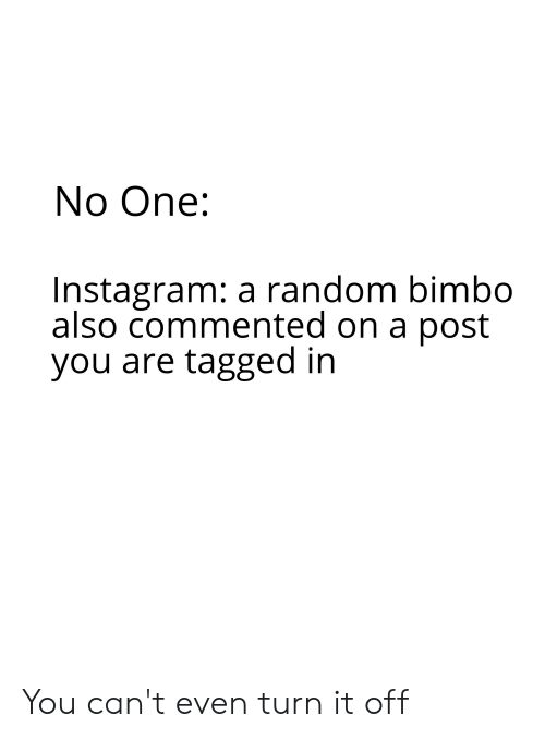 No One Instagram a Random Bimbo Also Commented on a Post You