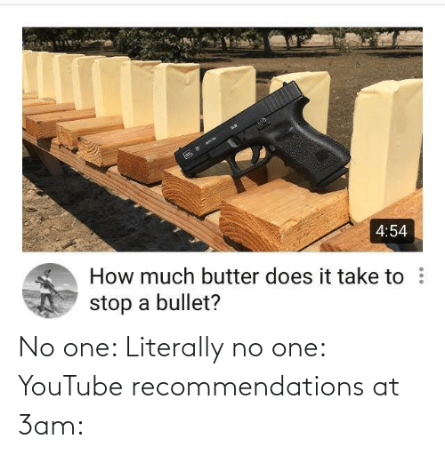 youtube.com: No one: Literally no one: YouTube recommendations at 3am: